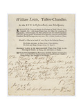 Tallow Chandler, William Lewis, Trade Card Giclee Print