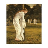 The Princess Tied to a Tree Giclee Print by Sir Edward Coley Burne-Jones