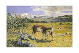 The Alps in May Giclee Print by Giovanni Segantini