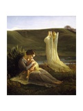 Angel and Mother, 1854 Giclee Print by Louis Janmot