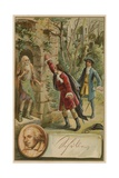 Scene from the Robbers Giclee Print by Friedrich Schiller