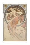La Danse, 1898 Giclée-tryk af Alphonse Mucha