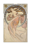 Alphonse Mucha - La Danse, 1898 Digitálně vytištěná reprodukce