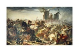 Battle of Legnano, May 29, 1176 Giclee Print by Amos Cassioli