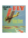 Learn to Fly Poster Giclee Print