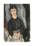 A Servant in a Striped Apron, 1916 Giclee Print by Amedeo Modigliani