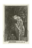 Sir Galahad Opens the Tomb Giclee Print by Henry Justice Ford