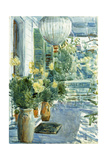Veranda of the Old House, 1912 Giclee Print by Childe Hassam