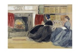Women at Home Giclee Print by Odoardo Borrani