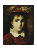 Portrait of a Young Girl, 1876 Giclee Print by Leon Joseph Florentin Bonnat