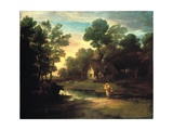 Wooded Landscape with Cattle by a Pool, 1782 Giclee Print by Thomas Gainsborough