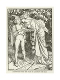 Guenevere Sends Her Page to Lancelot for Help Giclee Print by Henry Justice Ford