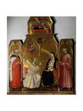 Annunciation and Saints Giclee Print by Taddeo di Bartolo