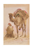 Praying Arab with a Secured Camel Giclee Print by Ippolito Caffi