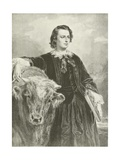 Rosa Bonheur, French Artist Giclee Print by Edouard Louis Dubufe