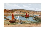 The Harbour, Lyme Regis Giclee Print by Alfred Robert Quinton
