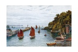 Looe, Entrance to Harbour Giclee Print by Alfred Robert Quinton