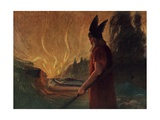 Instantly a Stream of Fire Gushed Forth Giclee Print by Hermann Hendrich