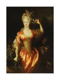 Portrait of Marie-Marguerite-Elizabeth D'Algere Giclee Print by Nicolas de Largilliere
