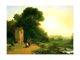 A Shrine in Italy, 1847 Giclee Print by John Frederick Kensett