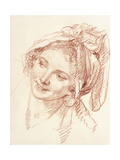The Head of a Young Girl Inclined to the Left Giclee Print by Jean-Baptiste Greuze