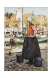 Woman Along Canal Giclee Print by George Hitchcock