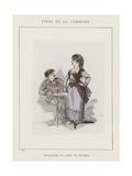 Deleguee Du Cafe De Madrid Giclee Print by Charles Albert d'Arnoux Bertall