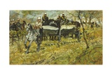 Artillery During Maneuvers Giclee Print by Giovanni Fattori