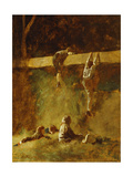 In the Barn Giclee Print by Eastman Johnson