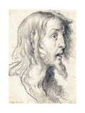 The Head of Christ in Profile to the Right Lámina giclée por Bernardo Strozzi