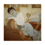 Madame Hessel on the Sofa, 1900 Giclee Print by Edouard Vuillard