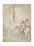 The Gibbet Giclee Print by Thomas Rowlandson
