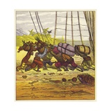 The Three Youthful Mariners Giclee Print by Ernest Henry Griset