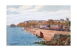 The Leas from Harbour, Folkestone Giclee Print by Alfred Robert Quinton