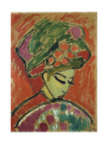 Girl in Turban, 1910 Giclee Print by Alexej Von Jawlensky