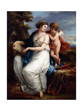 Sappho Inspired by Love Giclee Print by Angelica Kauffmann