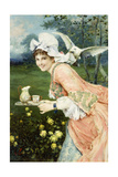 Tea Time Tease Giclee Print by Francesco Vinea