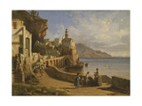 View of Atrani Giclee Print by Consalvo Carelli