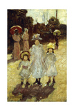 Sunday Morning in Paris, C.1892-1894 Giclee Print by Maurice Brazil Prendergast