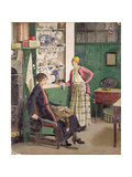 In the Kitchen, 1918 Giclee Print by Harold Harvey