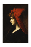 The Red Hat Giclee Print by Jean-Jacques Henner