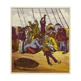 Billee Fainted on Board the Mary Jane Giclee Print by Ernest Henry Griset