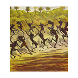 Cannibals Dancing Giclee Print by Ernest Henry Griset