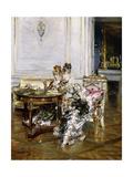 Elegant Ladies in an Interior, C.1875 Giclee Print by Giovanni Boldini