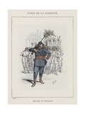 Retour Du Bastion Giclee Print by Charles Albert d'Arnoux Bertall