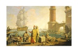 View of Port of Livorno, 1762 Giclee Print by Giuseppe Zocchi
