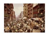 Mulberry Street, Manhattan, C.1900 Giclee Print