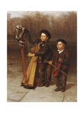 The Little Strollers, 1874 Giclee Print by John George Brown