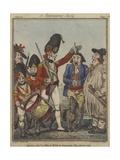A Recruiting Party, 1797 Giclee Print by Isaac Robert Cruikshank