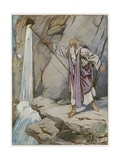 Moses Striking the Rock to Bring Forth Water Giclee Print by Tony Sarg